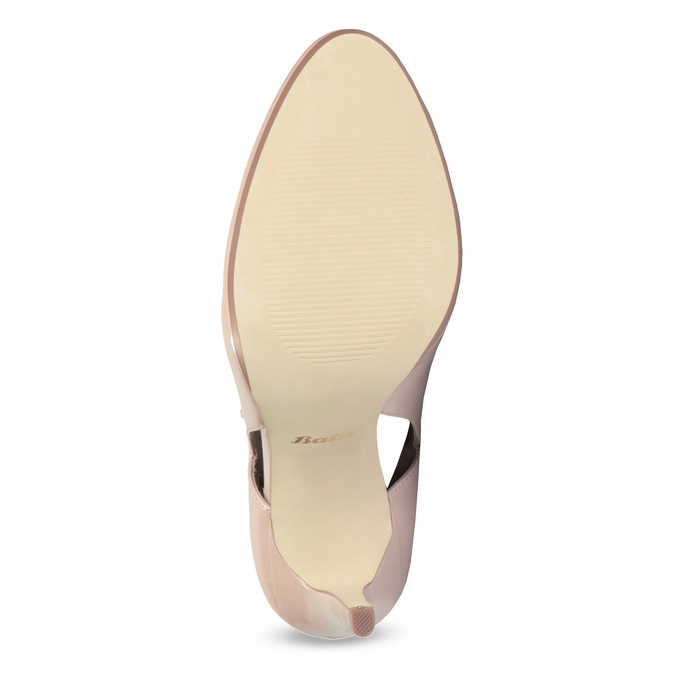 Pinkish cream-colored pumps with cut-outs insolia, beige , 721-8614 - 18
