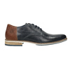 Men's leather Derby shoes bata, blue , 826-9924 - 26