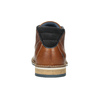 Men's leather ankle boots bata, brown , 826-3925 - 16