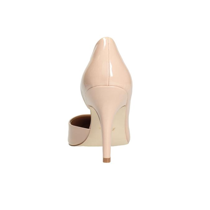 Patent pinkish cream-colored pumps insolia, beige , 721-5615 - 16