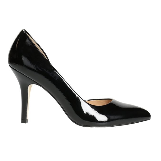 Black patent pumps insolia, black , 721-6615 - 26