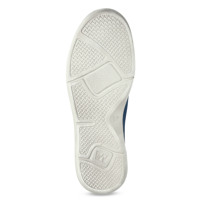 Casual leather low shoes weinbrenner, blue , 546-9603 - 18