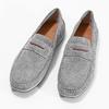 Men's brushed leather moccasins bata, gray , 853-2614 - 16