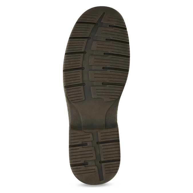 Brown leather shoes bata, brown , 826-4918 - 18