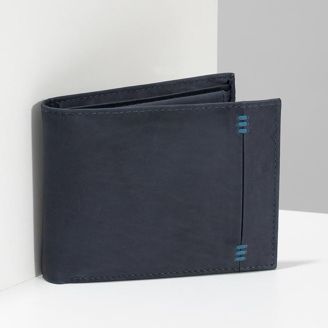 Men's leather wallet bata, blue , 944-9188 - 17