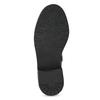 Black Girls' Leather High Boots mini-b, black , 391-6655 - 18