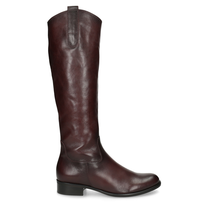 Burgundy High Leather Boots gabor, red , 696-5191 - 19