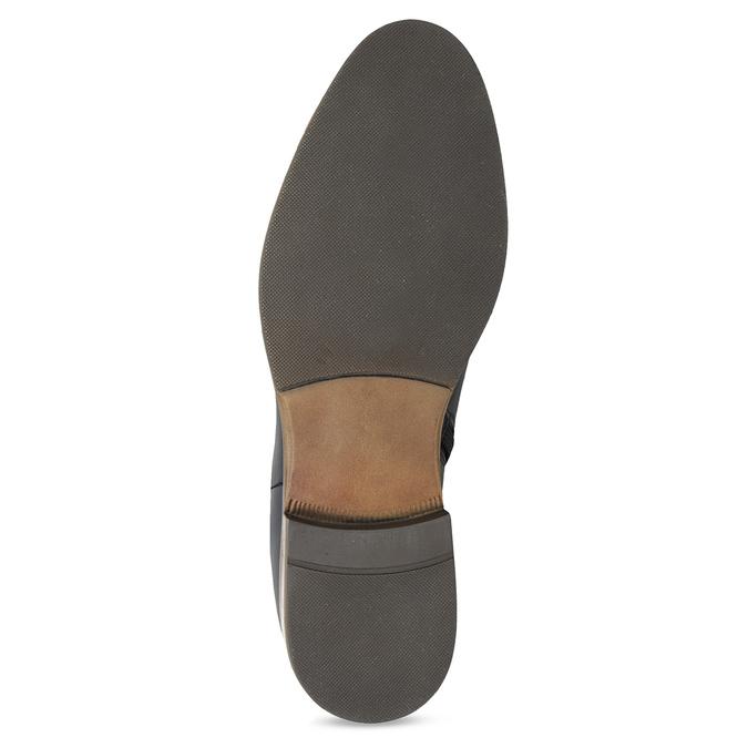 Ladies' Leather High Boots bata, blue , 594-9637 - 18