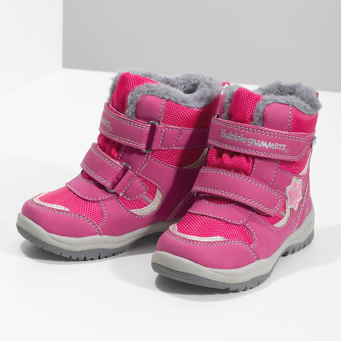 Pink Children's Snow Boots bubblegummer, pink , 199-5602 - 16